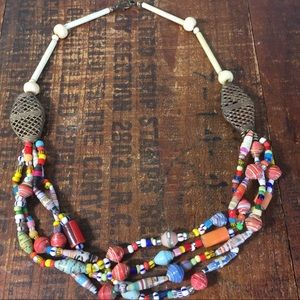 Jewelry - Vintage African beaded necklace